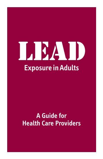 Adult lead poisoning well