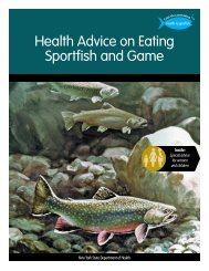 Statewide fish & game booklet - New York State Department of Health