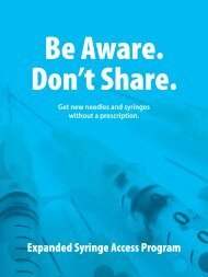 Be Aware. Don't Share. - New York State Department of Health