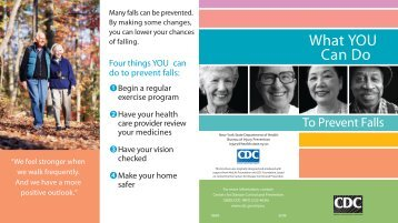 What YOU Can Do to Prevent Falls - New York State Department of ...