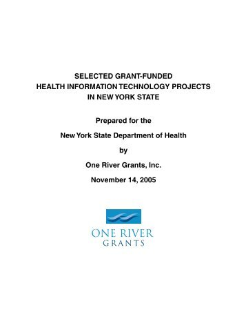 Selected Grant-Funded Health Information Technology Projects in ...