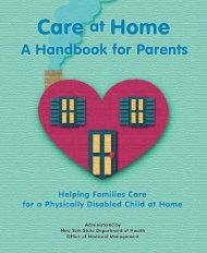 Care at Home: A Handbook for Parents - New York State ...