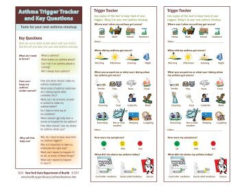 Asthma Trigger Tracker - New York State Department of Health