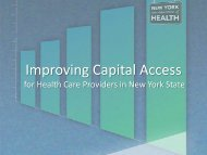 Improving Capital Access Presentation - New York State Department ...