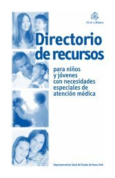 Directorio de recursos - New York State Department of Health