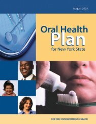 Oral Health Plan for New York State (pdf)