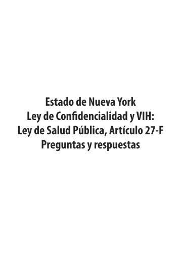 NYS Confidentiality Law and HIV questions and answers - spanish
