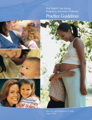 Oral Health Care During Pregnancy and Early Childhood Practice ...