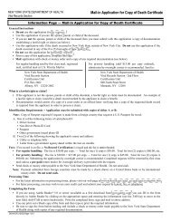 Form DOH-4376 - Mail-in Application for Copy of Death Certificate