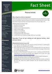 Physical Activity - Queensland Health
