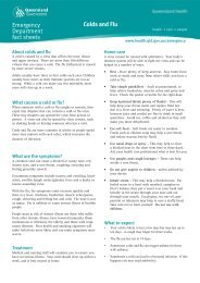 Colds and flu - Queensland Health