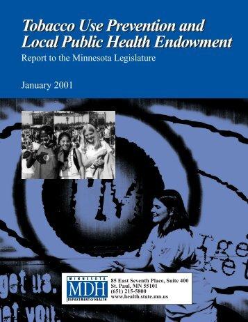 Tobacco Use Prevention and Local Public Health Endowment ...