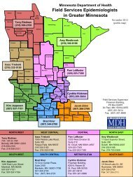 MDH Field Services Epidemiologists - Minnesota Department of ...