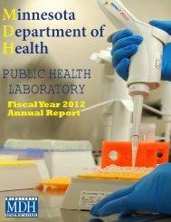 annualreport2012 - Minnesota Department of Health