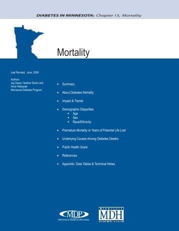 Diabetes Mortality - Minnesota Department of Health