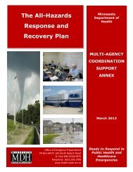 The All-Hazards Response and Recovery Plan - Minnesota ...