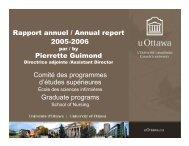 Rapport annuel / Annual report 2005-2006 Pierrette Guimond ...