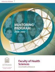 MENTORING PROGRAM - Faculty of Health Sciences