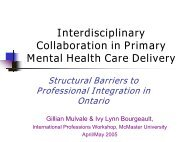 Interdisciplinary Collaboration in Primary Mental Health Care Delivery
