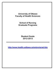 Graduate studies guide ― NSG - Faculty of Health Sciences