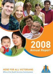 Office of the Health Services Commissioner Annual Report 2008