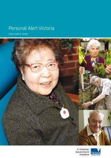 Personal Alert Victoria - Information Sheet