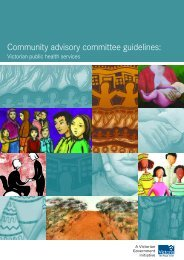 Community advisory committee guidelines: - Department of Health