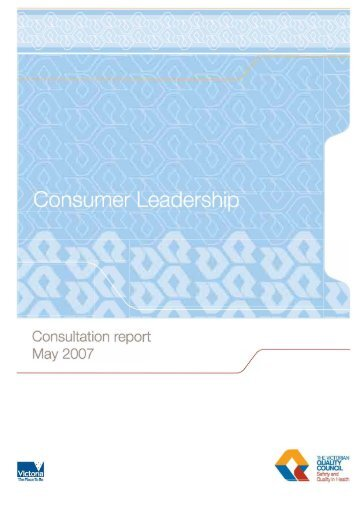 Consumer Leadership - Consultation report May 2007