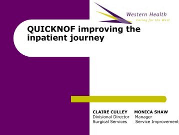 improving the acute inpatient journey for patients with a fractured ...