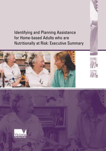 Identifying and Planning Assistance for Home-based Adults who are ...