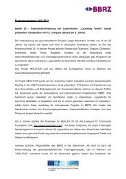 Presseaussendung 14.01.2013 Health 25 - Gesundheitsförderung ...