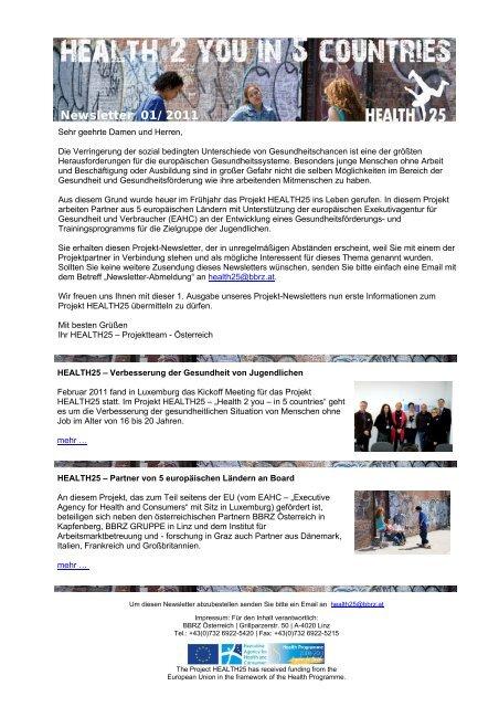 Newsletter 01/2011