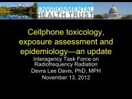 to microwave - Collaborative on Health and the Environment