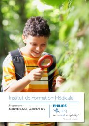 Institut de Formation Médicale - Philips Healthcare