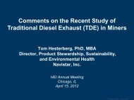 Tom Hesterberg - Health Effects Institute