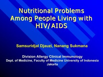 Nutritional Problems Among People Living with HIV/AIDS - Health[e ...
