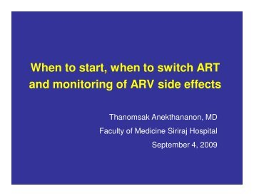 When to start, when to switch ART and - Health[e]Foundation