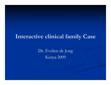 Interactive clinical family Case - Health[e]Foundation