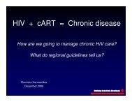 HIV + cART = Chronic disease - Health[e]Foundation