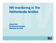 HIV monitoring in The Netherlands Antilles - Health[e]Foundation