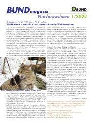 Bundmagazin Niedersachsen 1/2008 - BUND LV Niedersachsen e.v.