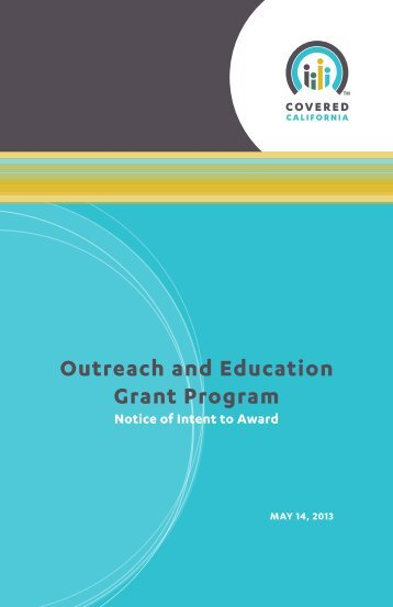 Outreach and Education Grant Program - California Health Benefit ...