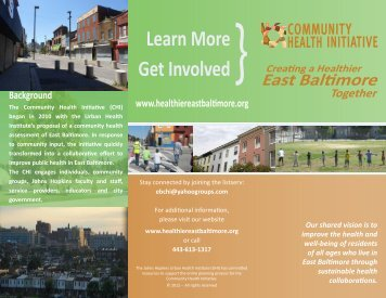 Community Health Initiative Brochure