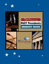 PAST Presidents - American Health Lawyers Association