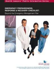 Emergency Preparedness, Response & Recovery Checklist