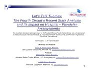 Let's Talk Tuomey - American Health Lawyers Association