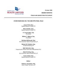 The 2009 IPPS Final Rule - American Health Lawyers Association