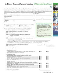 Printable Registration Form - The American Health Lawyers ...