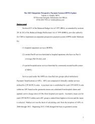 1 The 2013 Outpatient Prospective Payment System (OPPS) Update ...
