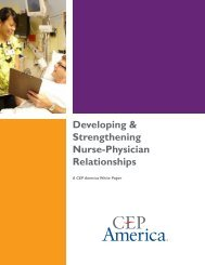 Developing & Strengthening Nurse-Physician Relationships